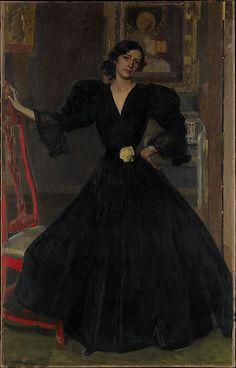 Señora de Sorolla (Clotilde García del Castillo, 1865–1929) in Black  Joaquín Sorolla y Bastida (Spanish, Valencia 1863–1923 Cercedilla)  Date: 1906