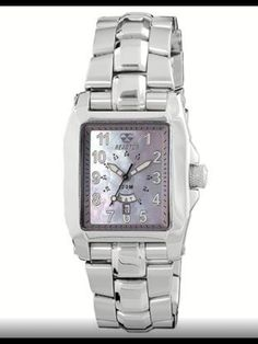 Fusion 2 ladies watch style #97217 in all stainless steel with mother of pearl dial. $350.
