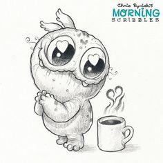 Chris Ryniak Morning Scribbles Chris Ryniak Morning Scribbles Avec Zeichnung Zum Nachmalen Et 25 Zeichnung Zum Nachmalen Sur La Cat Gorie Dekoration Zubehor dibujos a lapiz Doodle Monster, Monster Drawing, Cat Drawing, Drawing Sketches, Drawing Ideas, Cute Monsters Drawings, Cartoon Drawings, Animal Drawings, Pencil Drawings