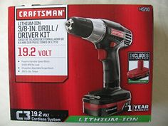 Price:       (adsbygoogle = window.adsbygoogle    []).push();  Why break the bank? The Craftsman C3 19.2-Volt Lithium-Ion 3/8-in. Drill/Driver Kit has all the bells and whistles at a great low price. With the power and technology of the included lithium-ion battery, experience fade-free...