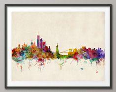 New York City Skyline, Kunstdruck (540)