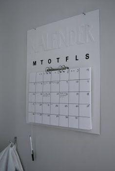 DIY - Calendar..i think i can make this!