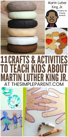 11 Educational Martin Luther King Jr Activities for Kindergarten Martin Luther King Jr Activities for Kindergarten & Preschool – Teach your kids about this important historical figure with these activities, crafts, and projects. From I Have a Dream art to Diversity Activities, Kindergarten Activities, Preschool Activities, Winter Activities, Multicultural Activities, Nursery Activities, Preschool Winter, History Activities, Preschool Learning