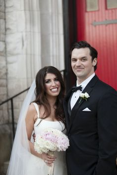 Bride and groom portrait at timeless blush Knoxville wedding, photographed by Ergen Photography | The Pink Bride www.thepinkbride.com