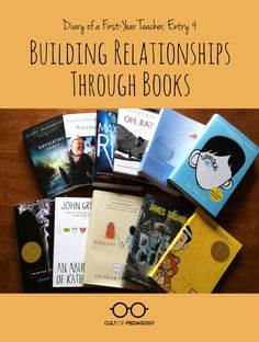 Diary of a Year Teacher Building Relationships Through Books - Talking about and sharing books has become an integral part of my daily interactions with students and a pivotal part of relationship-building with them. Middle School Books, Middle School English, Middle School Classroom, Ela Classroom, English Classroom, Classroom Setup, High School, Teaching Reading, Teaching Ideas
