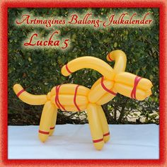 Artmagines Ballong-Julkalender Lucka 5: Julbocken är precis lika bra med ballonger som med halm. Vi gör en ny ballong-kreation varje dag fram till jul!