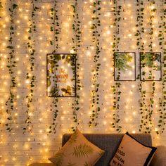 Room Design Bedroom, Room Ideas Bedroom, Bedroom Wall, Diy Bedroom Decor, Bedroom Decor Lights, Bedroom Lighting, Cute Room Decor, Teen Room Decor, Ivy Wall