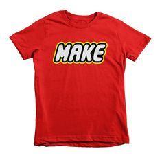 LEGO inspired MAKE tee at Small Apparel - see how they're trying to donate a huge percentage of sales to fantastic kid-oriented charities.