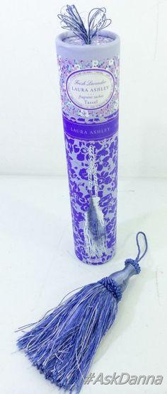 Laura Ashley Lavender Curtain TIE-BACK Tassel Fragrant Sachet PURPLE Armoire NEW #lauraashley #askdanna #ebay #lavender #sachet
