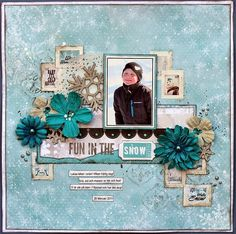Fun In The Snow Scrapbook Page by Ulrika Wandler using BoBunny Altitude Collection. #BoBunny @hemmahosulrika