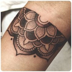 half mandala tattoos - Google Search