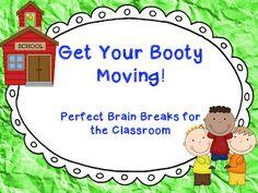 Kindergarten Lifestyle: Get Your Booty Moving!! --- Brain Break videos