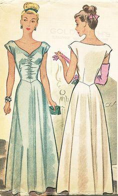 SZ-20/Büste 38 1940er Jahre Vintage Kleid von ThePatternSource