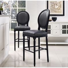Somette Black Upholstered Round Back Memory Swivel Counter Stool - Overstock Shopping - Great Deals on Somette Bar Stools