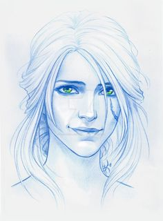 The Witcher, Ciri Ciri Witcher, Witcher Art, The Witcher Books, The Witcher 3, Witcher Wallpaper, Doodle Drawing, Video Game Art, Art Plastique, Cool Drawings