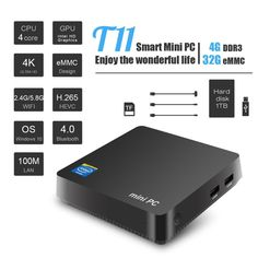 T11 win10 MINI PC Intel atom Z8350 1.44GHz 4GB+32GB Wnidows 10 licensed support 2.5 inch HDD, VGA&HDMI dual output,5.8Ghz wifi  Price: 141.00 & FREE Shipping  #tech|#electronics|#home|#gadgets Mini Pc, Floppy Disk, Intel Processors, Disk Drive, Modular Design, Hdmi Cables, Lcd Monitor, Desktop Computers, Card Reader