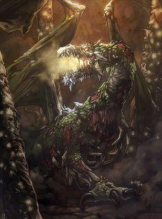 Undead Dragon by *nJoo on deviantART