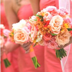 Love all of these colors for a wedding!
