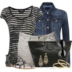 Striped t-shirt and shorts for Summer