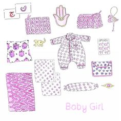 How about the Gift Guide for a little baby girl? Some sweet suggestions such as charms, pajamas, rugs for a nursery, stationary, pillow covers, pouches, toiletry bags and more. #ecru #giftguide #accessories #decor #design #online #babygirl #pink #shopping