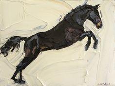 Jodie Wells - Black Horse on White