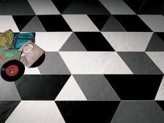 Konzept Shapes Trapezium Terra Grigia di Valmori Ceramica Design | Piastrelle/mattonelle per pavimenti
