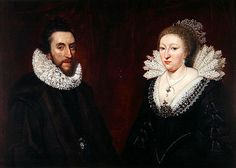 Dual portrait of Thomas Howard Earl of Arundel and Surrey, and his wife Alethea Howard, Countess of Arundel, granddaughter of Bess of Hardwick and cousin to Arbella Stuart.
