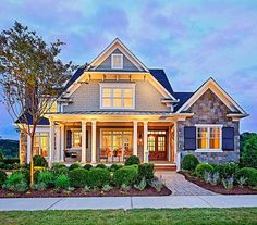 All I can say is... WOW!  How picturesque!  Always been a fan of how exterior lights class up the outside of a home!
