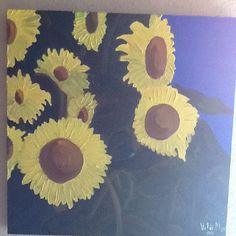 Girasols , pintura al oli sobre tela