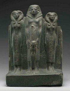 Group statue of Ukhhotep II and his family Middle Kingdom, Dynasty 12, reign of Senwosret II or III, 1897-1842 B.C.
