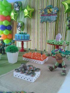 Festa de aniversário dos Tartarugas Ninjas. ~ Balões Criativos