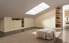 If you are lucky enough to have an attic in your home but haven't used this space for anything more than storage, then it's time to reconsider its use. An attic Attic Bedroom Designs, Attic Bedrooms, Attic Design, Bedroom Loft, Bedroom Decor, Interior Design, Master Bedrooms, Closet Remodel, Attic Remodel