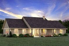 Ranch Style House Plan - 3 Beds 2 Baths 1924 Sq/Ft Plan #427-6 Photo - Houseplans.com                                                                                                                                                                                 More