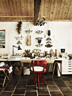 A spacious working space. Photo by Jonas Ingerstedt for Elle Déco Sweden