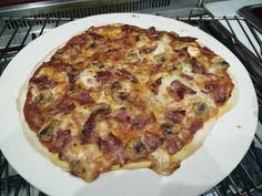 [Homemade] Stonebaked pizza with buffalo mozzarella mushrooms and smoked streaky bacon http://ift.tt/2jaxgqb