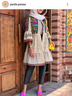 Iranian Women Fashion, Pakistani Fashion Casual, Pakistani Dress Design, Stylish Blouse Design, Stylish Dress Designs, Street Hijab Fashion, Abaya Fashion, Afghan Clothes, Capes