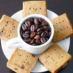 Espresso-Chocolate Shortbread Cookies.  Perfect for egg-free diets.