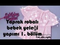 Robası yapraklı bebek yeleği yapımı ( 1 ) - YouTube