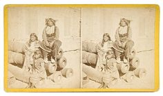 Black Horse with wife and daughter - Comanche - 1875