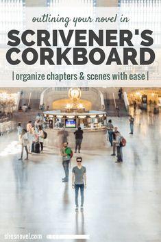 Outlining Your Novel is Scrivener's Corkboard via ShesNovel.com