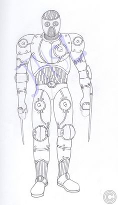 This is Cybernetic Prototype 004.  He goes by the name of Four after meeting Kyle. In the current first issue, Kyle thinks he is a Synthetic Prototype, which leads to the cliffhanger at the end.  His emotions are suppressed and his memories of his former life are either gone or suppressed.  Art by Scott Loesch.
