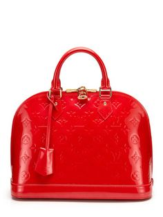 "http://www.gilt.com/invite/bjenkins8422  Louis Vuitton ""Rare"" Rouge Grenadine Vernis Alma Bag PM"