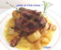 Ingredientes para 4 personas: 4 Galtas de cerdo (Carrilleras) 2 Patatas grandes 2 Cebollas grandes 8 dientes de Ajos 1 cop...