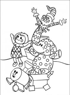 some misfit toys charlie in the box the spotted elephant the doll dolly and the train with square wheels coloring page