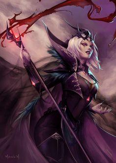 LeBlanc Vampire Queen, Marcela Medeiros on ArtStation at https://www.artstation.com/artwork/ayZrL