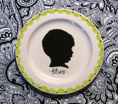 Custom Portrait Plate. This would be cute to do with Remy every year.