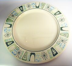 Midcentury Modern Atomic plate design
