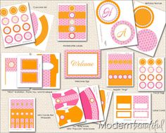 Pink and Orange Printables