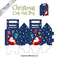 Caixa engraçado Papai Noel