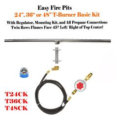 T-Burner Complete Basic Propane Fire Table Kit
